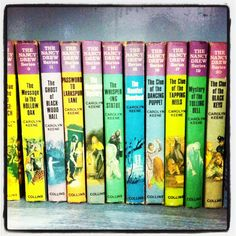 Nancy Drew. Vintage treasures. Collection a must!