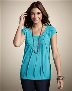 Chico's manipulated texture cap tee - love the color!