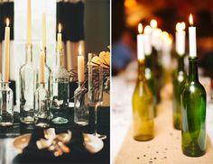 botellas con velas