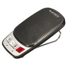 Image result for hands free bluetooth wireless car kit speaker phone sun visor clip portable slim