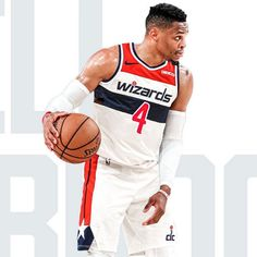 "NBA Stream 🏀's Instagram photo: ""Russell Westbrook will wear No. 4 for the Wizards!"" Nba Pictures, Washington Wizards, Russell Westbrook, Basketball Players, The Unit, Celebs, Hoop, Sports, Eye Candy"