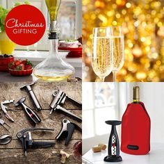 Dreaming of a white Christmas... or a sparkling or even a red one?  Visit our website for great Wine Accessories and other inspiring gift ideas