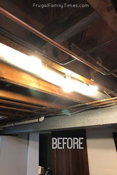 Our Painted Basement Ceiling: WITHOUT a Sprayer and the Perfect Black Paint
