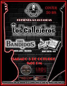 Cresta Metálica Producciones » Toques de LOS CALLEJEROS en Caracas!!