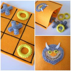 Where The Wild Things Are Tic Tac Toe Game Set. Are you looking for a last minute Christmas present for your CHILDREN ? You found it! Have a look at my shop for more ready to ship TIC TAC TOES!!!