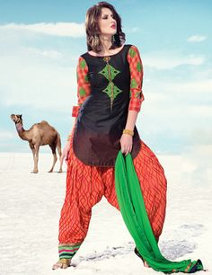 G3fashions Black cotton patiala salwar suit Products code: G3-WSS0925 Price: ₹ 7,083.00