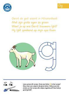 Wil jij leren lezen en schrijven? Door dit werkblad te maken, oefen je het herkennen van de letter G. De letter G is van het woord 'geit', maar ook van het woord 'grapje', 'geel', 'groen' en ga zo maar door . Het is dus handig om de letter G te herkennen. Wil je de letter G ook leren schrijven? Kijk dan eens bij de andere werkbladen die bij de letter G horen.