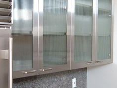 Kitchen Cabinets With Frosted Glass Doors saw rain glass cupboards at menards and loved them | kitchen