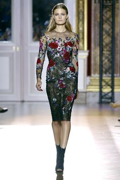 Floral cocktail dress. By Zuhair Murad Haute Couture Automne-Hiver 2012-2013.