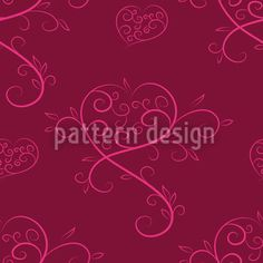 Love Actually Red by Figen Topbas Fukara available as a vector file on patterndesigns.com