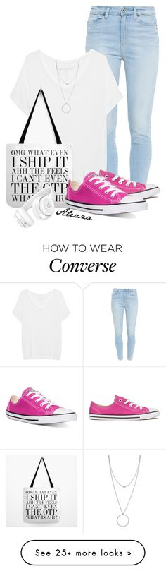 """converse"" by ale-zz on Polyvore featuring Paige Denim, True Religion, Converse, Botkier and Beats by Dr. Dre"