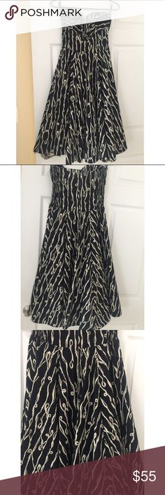 By Girls From Savoy Dress Super gorgeous dress from By Girls from Savoy --- Anthropologie brand. It has a halter strap or you can wear it strapless. Worn few times with no flaws! No rips no stains no tears. Size 4. by Girls from Savoy Dresses