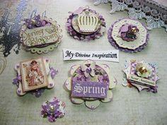 Sweet Sentiments Handmade Scrapbook Embellishments by mydivineinspiration, $4.99