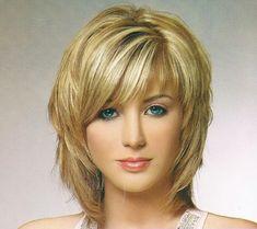 Haircuts medium length with bangs