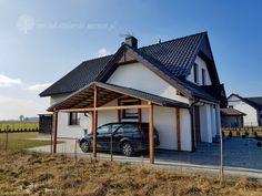 Wiata garażowa / Zakład Stolarski Poznań Garage Exterior, Carport Garage, Carport Designs, Building A Shed, Terrazzo, Car Parking, House Plans, Porch, Pergola