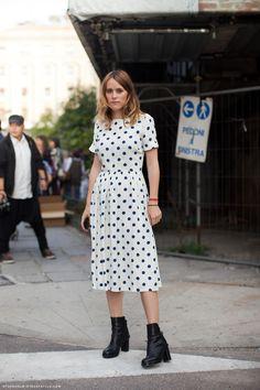 #awkward #girls : ) and polka dot fifties feel #dress makes me smile