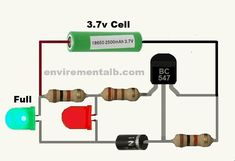 This circuit is about battery low full indicator circuit. in this way we can check the charge level of low full battery with this indicator Basic Electronic Circuits, Electronic Circuit Design, Electronic Schematics, Electronic Engineering, Electrical Engineering, Electronics Mini Projects, Simple Electronics, Electronics Basics, Electrical Projects