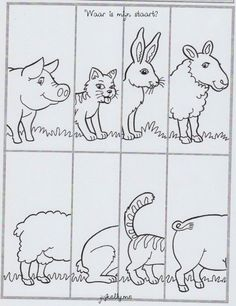 Puzzel boerderijdieren