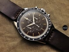 """Omega Speedmaster """"BROWN Dial with LOLLIPOP and BEZEL BASE 1000"""" ref 2915-2 ; cal 321"""