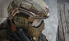 Paintball helmet military