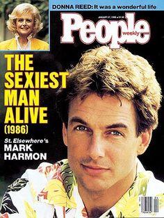 Mark Harmon. Sexy then, sexy now.  Love him as seasoned Agent Gibbs on NCIS