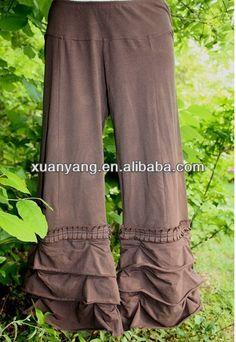 ruffle pants for women   cotton ruffle pants ,women loose knit pants, View Ladies ruffle pants ...