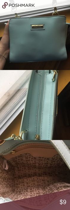 Baby blue Marc Fisher Crossbody Baby blue Marc Fisher crossbody! Brand new! A little dented from being in my closet but goes back to its original state once you put your belongings in it! Marc Fisher Bags Crossbody Bags