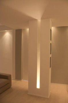 64 Ideas For Ceiling Lighting Design Diy Luxury Interior Decorating, Creative Interior Design, Lighting Design Interior, Living Room Designs, Columns Decor, Ceiling Design, Ceiling Light Design, Interior Columns, Ceiling Lights