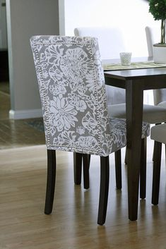 interesting chair cover. | Dining room | Pinterest | Chair covers ...