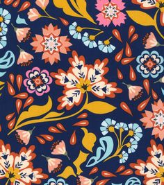 Deb's Dress Fabric. From Joann's  (Keepsake Calico™ Cotton Fabric-Graphic Floral,  Item #: 14505051)
