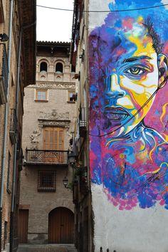 Mural de Christian Guémy,  In Tudela de Navarra, Spain