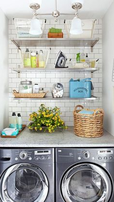Like this for a small laundry room!