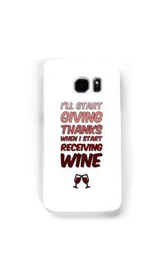 I'll start giving thanks when I start receiving wine by bubbliciousart