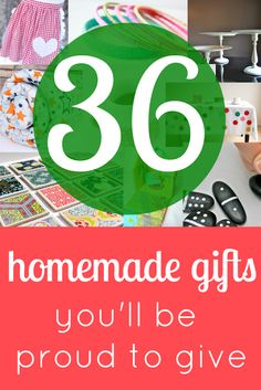 A Thrifty Mrs | A fun money saving blog: 36 homemade gifts you'll be proud to give