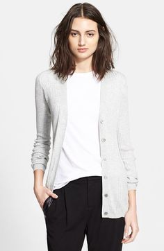 Free shipping and returns on Vince Skinny Rib Cardigan at Nordstrom.com.  Ribbed construction 3e8524d6879bb