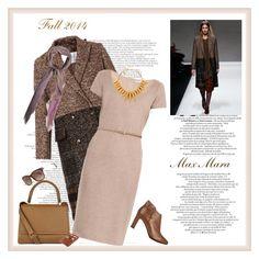 """MAX MARA Teramo coat♥♥♥"" by marthalux ❤ liked on Polyvore featuring MaxMara and Oscar de la Renta"