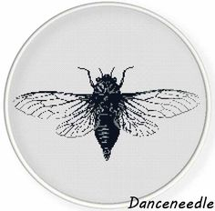 Instant  Download,Free shipping,Cross stitch pattern, PDF,insect collection,cicada,zxxc0877