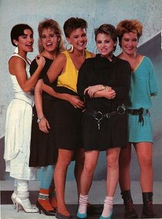 So many important things happening with The Go-Gos, most notably the belts and socks with heels.