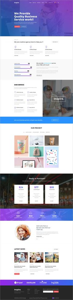 Inspire is a creative #PSD template for #webdev multipurpose #agency and business websites download now➩ https://themeforest.net/item/inspire-creative-multipurpose-psd-template/19265894?ref=Datasata