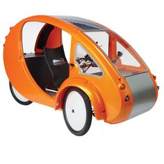 The Solar Velomobile - Hammacher Schlemmer…solar powered/pedal powered bicycle…so cool!