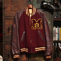 Classic vintage letterman's jacket