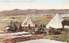 WW1, Salonika, British camp at Zeitenlik.