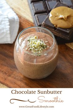 Chocolate Sunbutter Smoothies are a filling healthy breakfast snack or dessert. You'll never taste the veggies! Healthy Smoothies, Smoothie Recipes, Healthy Snacks, Green Smoothies, Smoothie Bar, Healthy Eating, Healthy Kids, Healthy Drinks, Drink Recipes