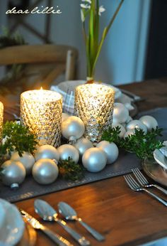 Our Christmas Table Setting by Dear Lillie