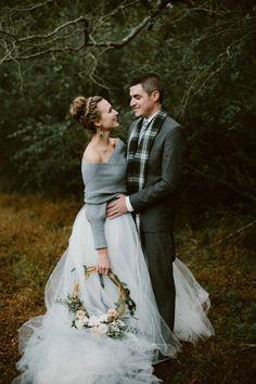 fashionably cozy winter wedding