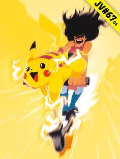 JV#67 par Opreem, version Pikachu Bart Simpson, Illustrations, Pikachu, Fictional Characters, Illustration, Fantasy Characters, Illustrators