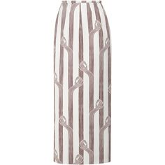 Emilia Wickstead Lia Highwaisted Midi Skirt ($1,240) ❤ liked on Polyvore featuring skirts, white high waisted skirt, midi skirt, high waisted skirts, high-waist skirt and high waisted pencil skirt