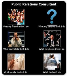 What people think PR people do