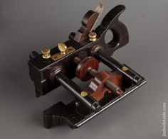The Tool Find of the Century! Solid Ebony OHIO TOOL CO Number 112 Center Wheel Plow Plane  -- One of Three Known - 78893RU
