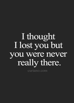 You were always holding onto your past since you ran right back to them.
